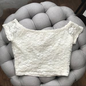Hollister Cropped Lace Top
